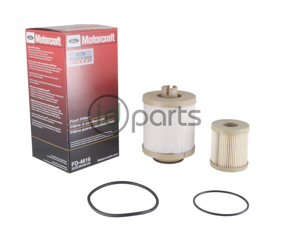 fuel filter kit for the 2003-2007 ford powerstroke 6 0l diesel engine   contains both the top mounted and frame mounted fuel filters