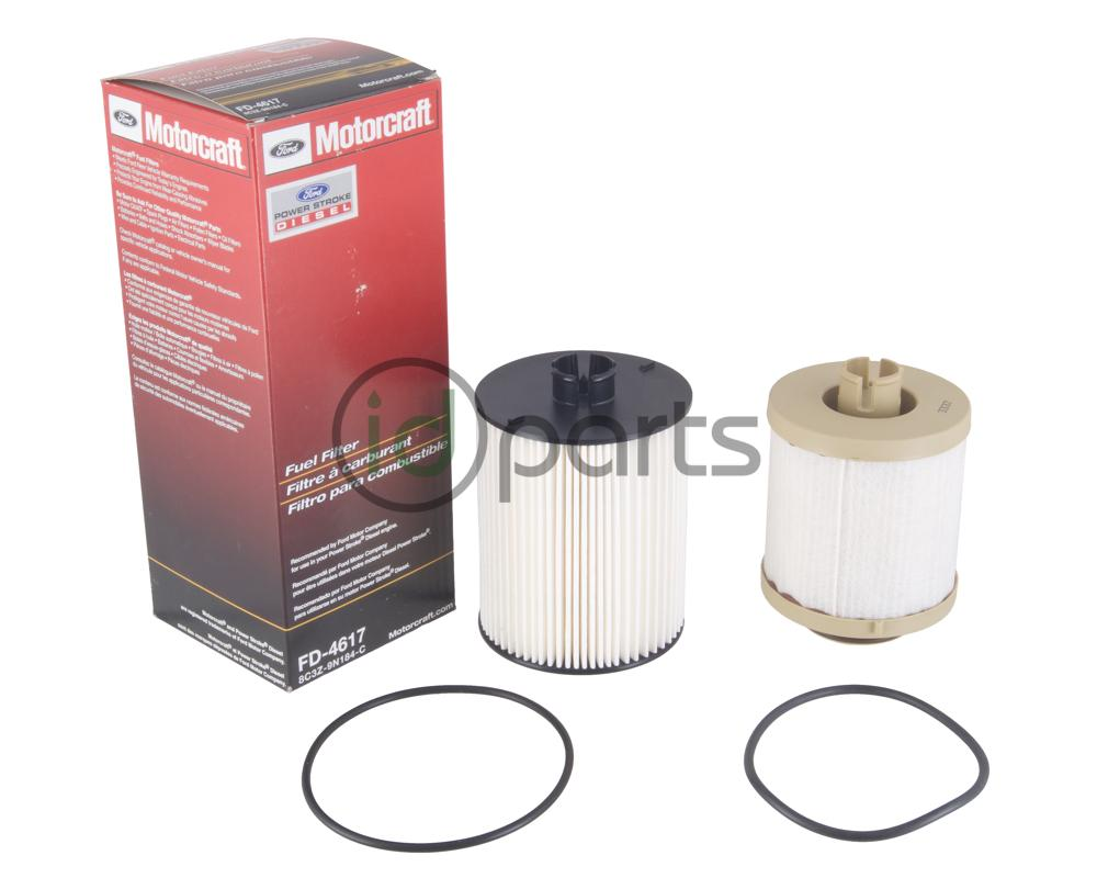 fuel filter set for the 2008-2010 ford powerstroke 6 4l engine  contains  both the top mounted and frame mounted fuel filter