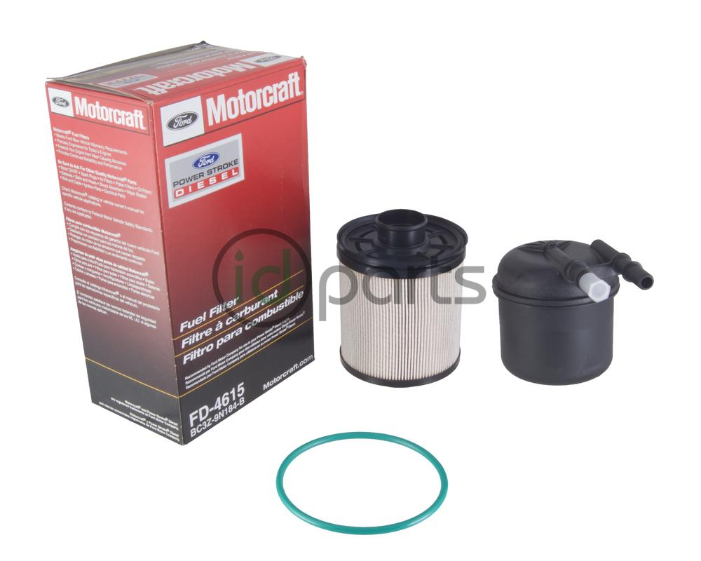 fuel filter kit for the 2011-2016 ford powerstrok 6 7l engine  contains  both the top mounted and frame mounted filter