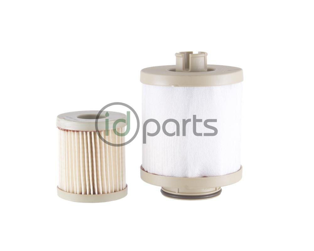 Fuel filter set from OE manufacturer Racor for the Powerstroke 6.0L engine  used in the Ford Super Duty and Econoline van.