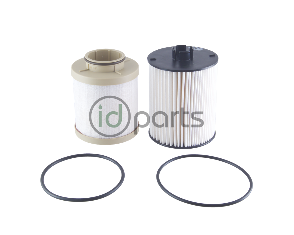 Fuel filter set for the 6.4L Powerstroke diesel engine used in the Ford  Super Duty pickup.