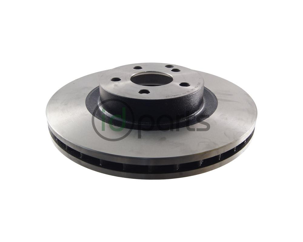 Front Premium Quality Cross Drilled and Slotted Coated Disc Brake Rotors And Ceramic Brake Pads - NOTE: w//o Sport Pkg One Year Warranty Stirling 2015 for Mercedes-Benz ML350 For Both Left and Right