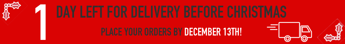 1 day left for delivery before christmas