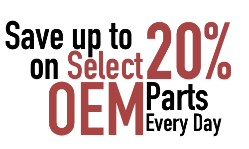 20% off Factory OEM Parts