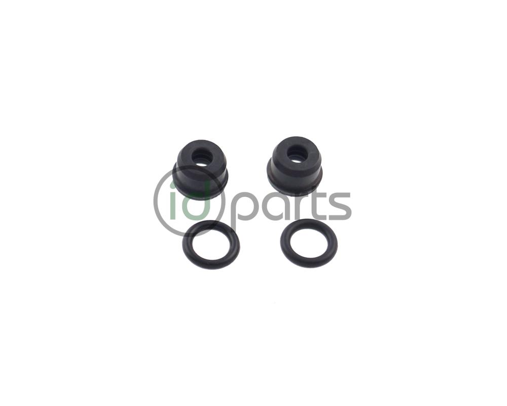 Set of 2 o-rings for the clutch hydraulic hard-line on all manual  transmission VW TDIs. There is one o-ring on either side of the hydraulic  line, ...