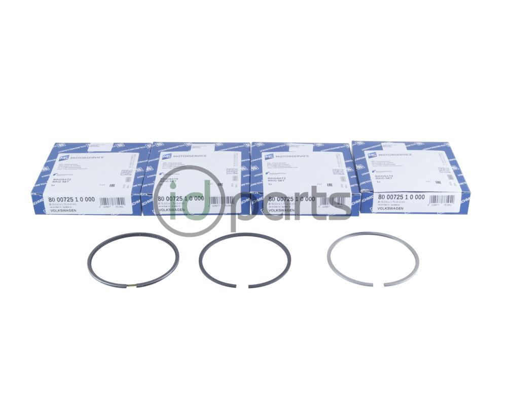 Complete engine piston ring set includes 4 complete sets of piston rings,  one set for each piston.