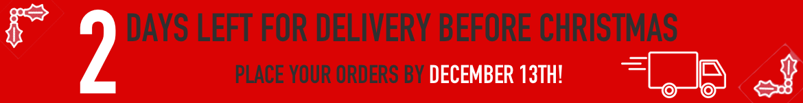 2 Days left for Christmas Delivery