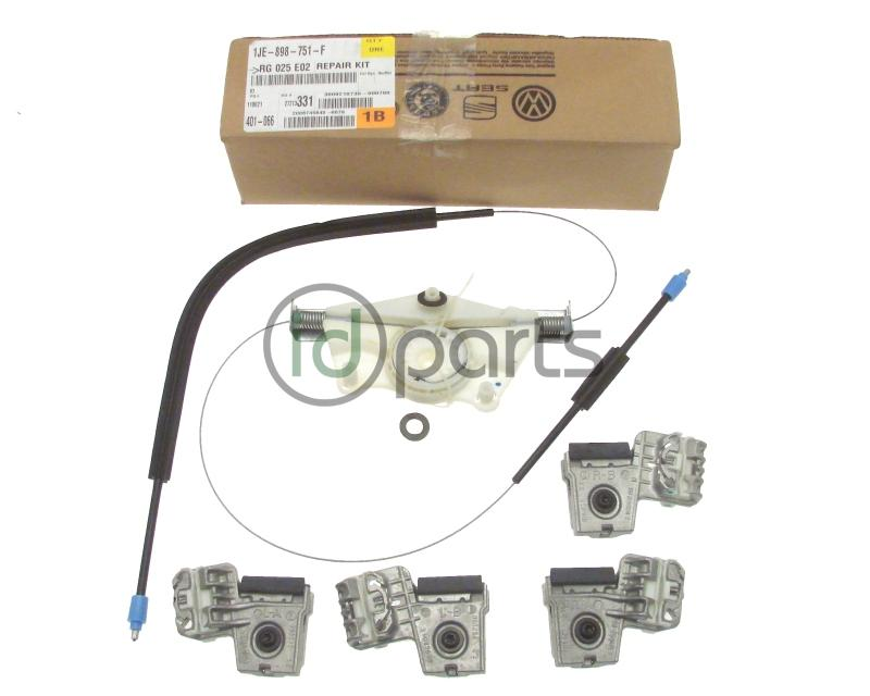 Window regulator repair kit for the left side/driver side window on 2-door VW Golf. MkIV Jetta and Golfs have a history of breaking the window regulator ...  sc 1 st  IDParts.com & Window Regulator Repair Kit Drivers Door [OEM] (A4 Golf 2-Door ...