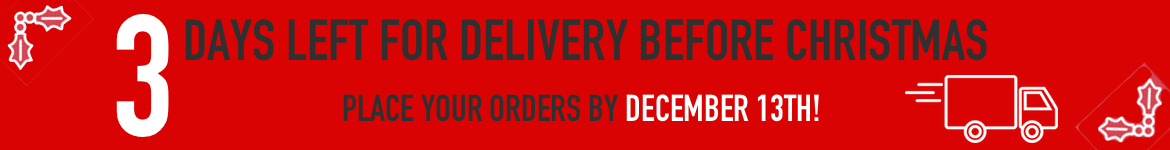 3 Days Left for Delivery before Christmas