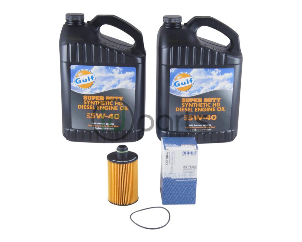 Oil change kit for the 2014+ Jeep Grand Cherokee 3.0L Ecodiesel. The 3.0L  diesel engine from VM Motori requires oil that meets Chrysler specification  for ...