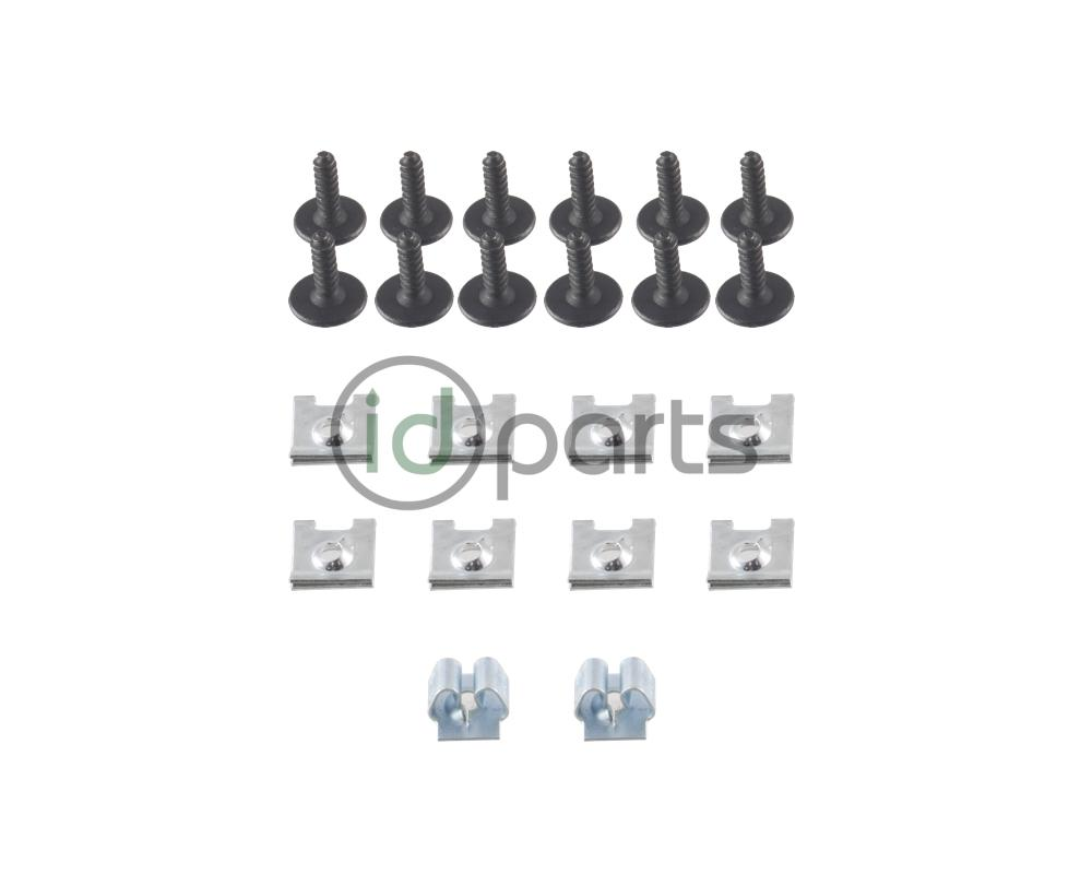 Belly Pan Screw And Clip Set A4 Vw Wiring Harness Retainer Clips Jetta Golf New Beetle Replacement To Secure The Sub Frame At Rear Both Side Skirts