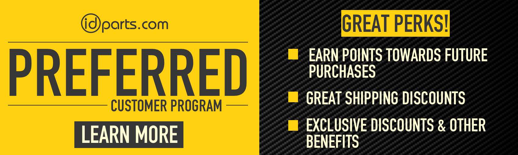 Preferred Customer Benefits Banner