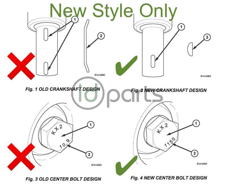 Harmonic Balancer Keyway (T1N New Style)