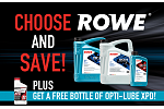 Choose ROWE and Save + Free Opti-Lube!