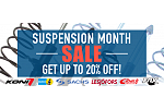 Up to 20% Off During our Suspension Month Sale