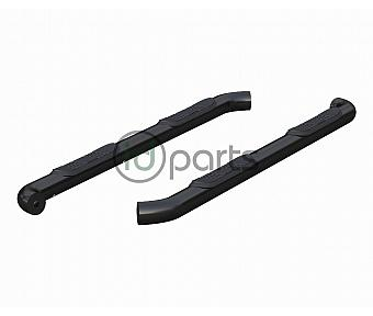 "3"" Round Semi-Gloss Black Steel Side Bars (Black) [Crew Cab] (Colorado/Canyon)"