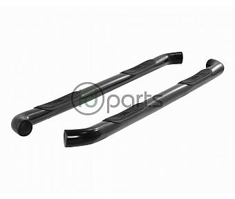 "3"" Round Semi-Gloss Black Stainless Steel Side Bars [Standard Cab] (F-150) (Gen 4 Super Duty)"