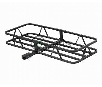 "48"" x 20"" Basket-Style Cargo Carrier (Fixed 1-1/4"" Shank with 2"" Adapter) - Black"
