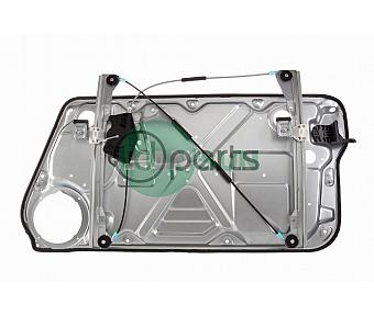 Front Left Window Regulator [With Panel] (New Beetle)