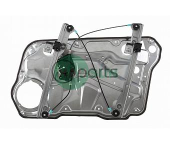 Front Left Window Regulator [With Panel] (A4 Golf/Jetta)