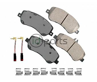 Akebono EURO Ultra Premium Ceramic Disc Brake Pad Kit - Front (X204)