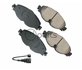 Akebono EURO Ultra Premium Ceramic Disc Brake Pad Kit - Front (Mk7)(8V)