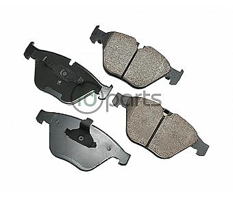 Akebono EURO Ultra Premium Ceramic Disc Brake Pad Kit - Front (E90)