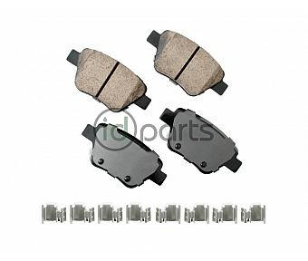 Akebono EURO Ultra Premium Ceramic Disc Brake Pad Kit - Rear (A5 Late)(Mk6)(NMS)