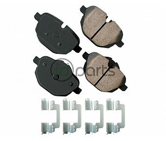 Akebono EURO Ultra Premium Ceramic Disc Brake Pad Kit - Rear (F10)(F25)