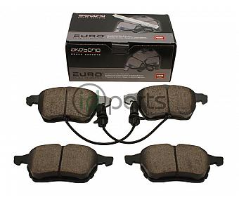 Akebono EURO Ultra Premium Ceramic Disc Brake Pad Kit - Front (B5.5)
