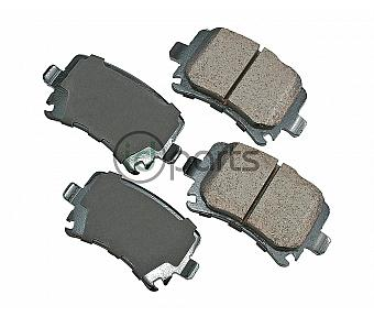 Akebono EURO Ultra Premium Ceramic Disc Brake Pad Kit - Rear (A5 260mm)