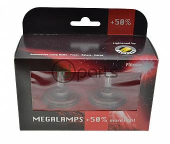 H4 Mega-Plus +50% Bulb 2-Pack (A4 Jetta E-Codes)