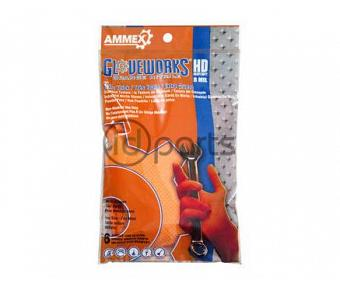 6-Pack Orange HD Nitrile Gloves