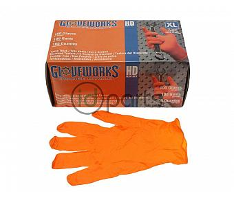 100ct Heavy Duty Orange Nitrile Gloves